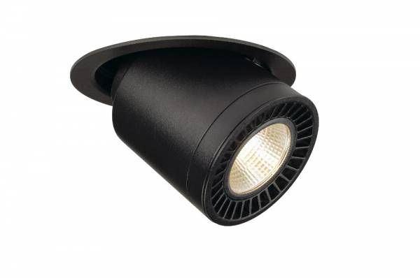 SUPROS MOVE recessed ceiling light,round,black,4000lm 3000K