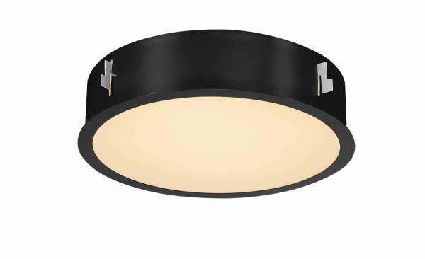 MEDO 30 LED recessed ceiling light, with frame, black
