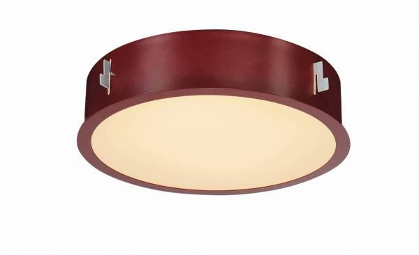 MEDO 30 LED recessed ceiling light, with frame, wine red
