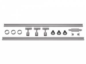 1-circuit HV set, silver, 2x1m, w. 3x PURI spot, LED lamps