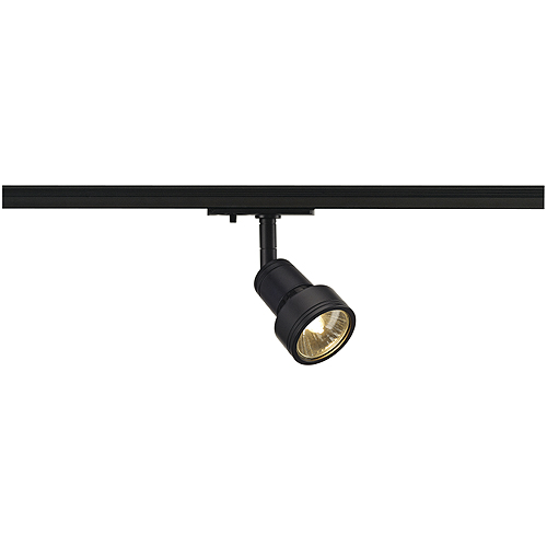PURI lamp head, black, GU10, max. 50W, incl. adaptor