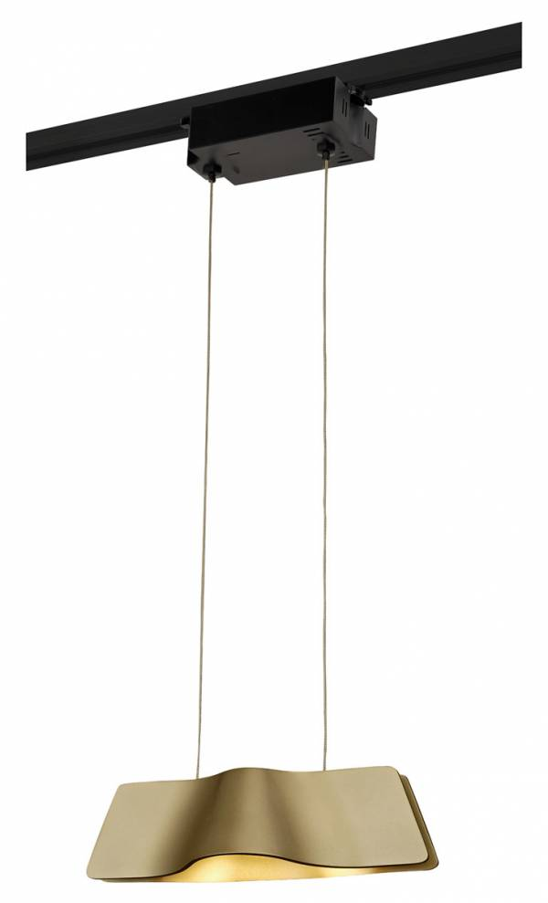 WAVE PENDANT pendulum luminaire, 9W LED, 3000K, brass