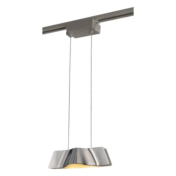 WAVE PENDANT pendulum luminaire, 9W LED, 3000K, alu brushed