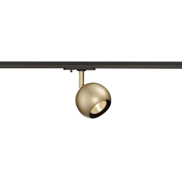 LIGHT EYE Spot GU10, max. 50W, incl. 1P.-Adapter, brass