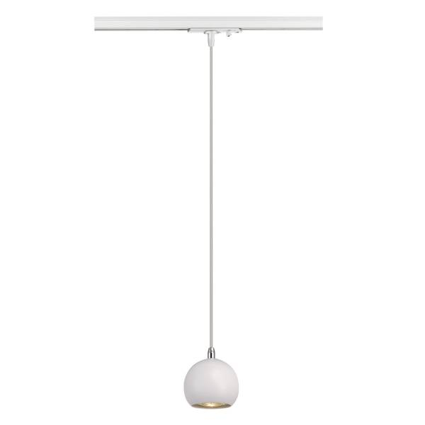 LIGHT EYE pendulum luminaire GU10, max. 50W, white/chrome
