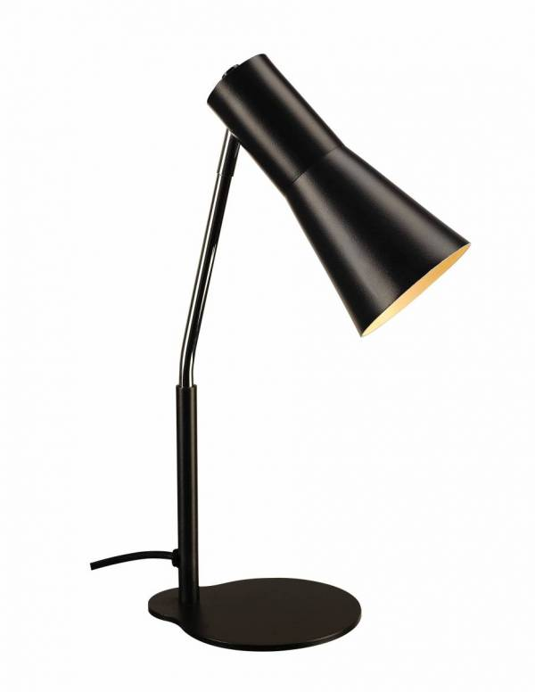 PHELIA table lamp, black, aluminium/steel, GU10