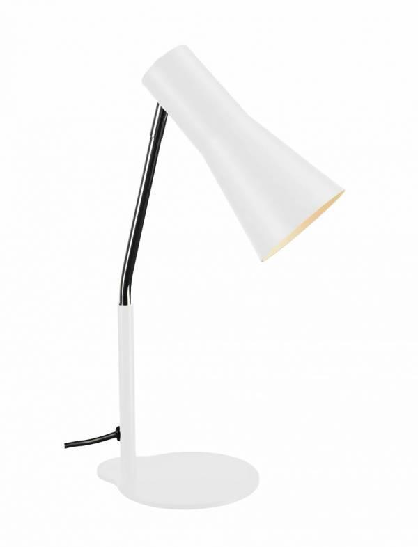 PHELIA table lamp, white, aluminium/steel, GU10