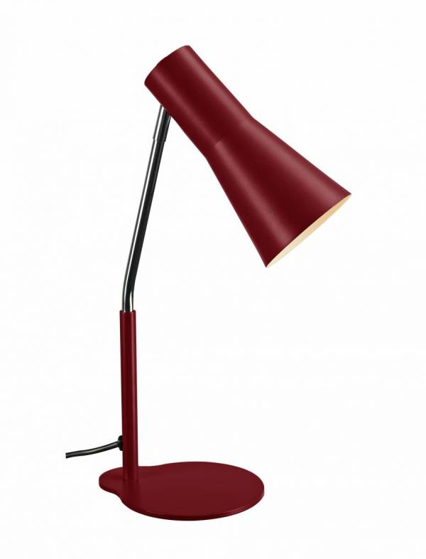 PHELIA table lamp, wine red, aluminium/steel, GU10