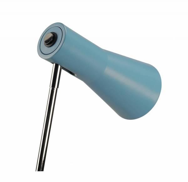 PHELIA table lamp, blue, aluminium/steel, GU10
