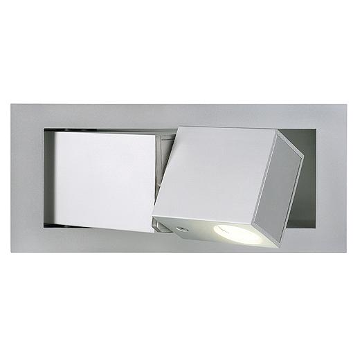BEDSIDE RECHTS LED wall lamp, 3W, 3000K, 110lm, silvergrey