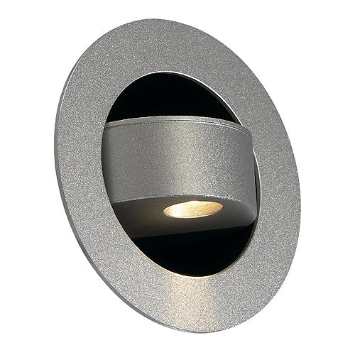 GILALED wall lamp, 3W, 3000K, 135lm, alu, silvergrey