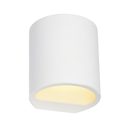 PLASTRA GL 104 ROUND wall lamp, G9, max. 42W, white plaster
