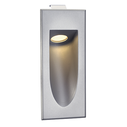 LED DOWNUNDER MINI wall lamp, 1W, 3000K, silvergrey