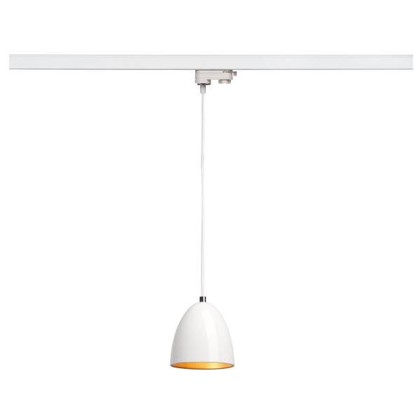 PARA CONE 14 pendulum luminaire, GU10, round, white/gold