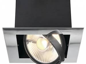 AIXLIGHT MOD FLAT SINGLE ES111, max. 75W, chrome/matt black