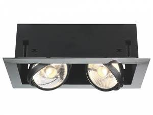 AIXLIGHT MOD FLAT DOUBLE ES111, max. 75W, chrome/matt black