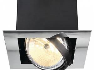 AIXLIGHT MOD FLAT SINGLE QRB111, max. 50W, chrome/matt black