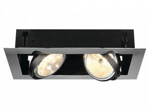 AIXLIGHT MOD FLAT DOUBLE QRB111, max. 50W, chrome/matt black