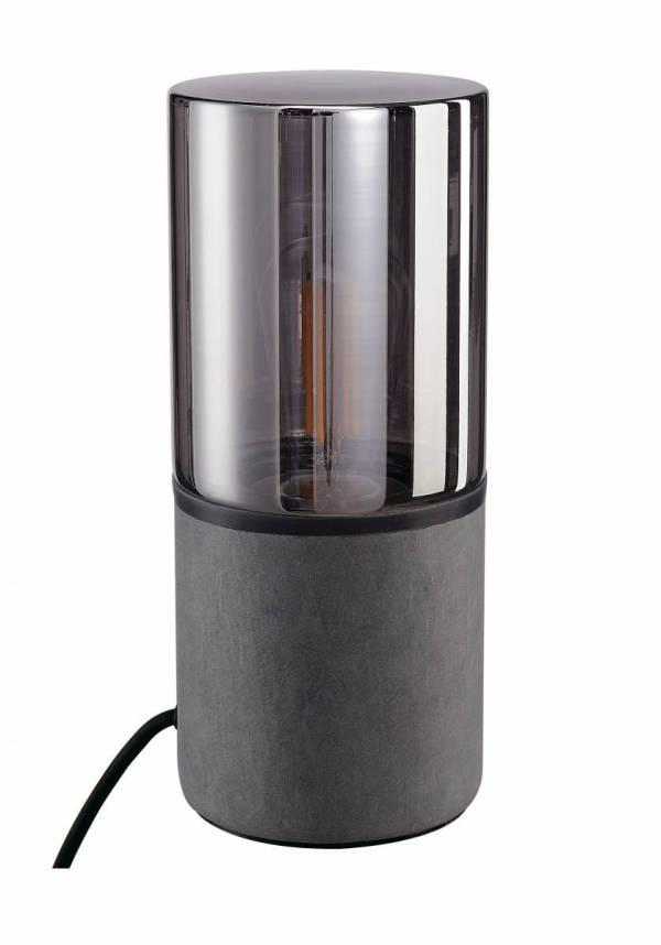 LISENNE TC-(D,H,T,Q)SE E27 23W table lamp,  stone-grey