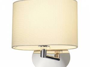 SOPRANA OVAL WL-1 wall lamp, E27, max. 60W, white textile
