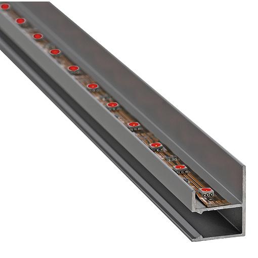 LED Einbauprofil,alu-eloxiert 1M, incl.satineder Abdeckung