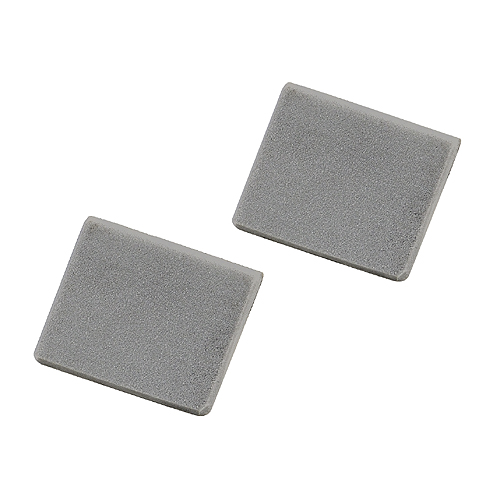End caps for LED wall profile, silvergrey, 2 pieces