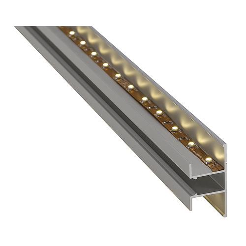 LED Wall profile up/down, alu anodized, 2m