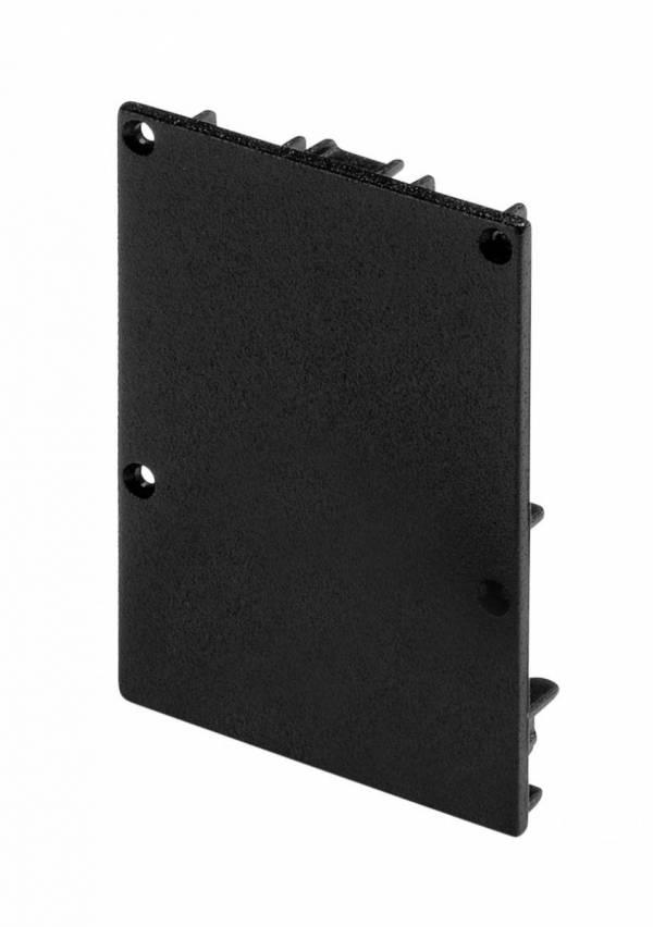 GLENOS end cap for profile 4970, matt black, 2 pcs.