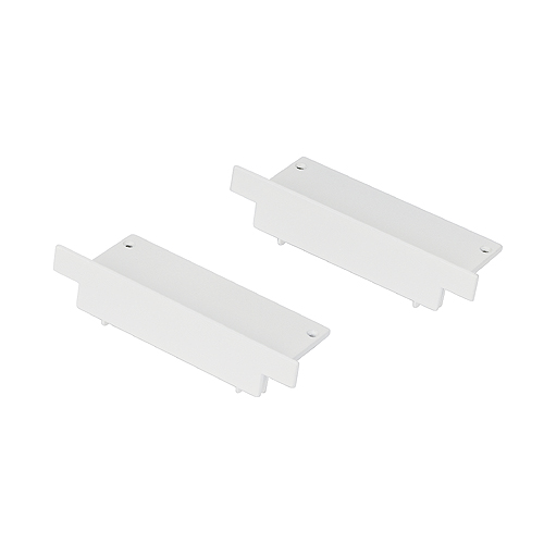 End caps for GLENOS ALU RECESSED PROFILE, white, 2 pieces
