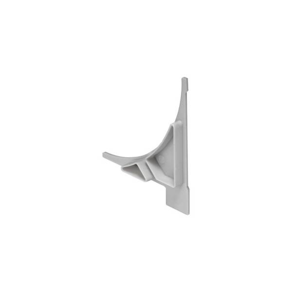 GLENOS Endcap for Regal profile, 2 Stk, silvergrey