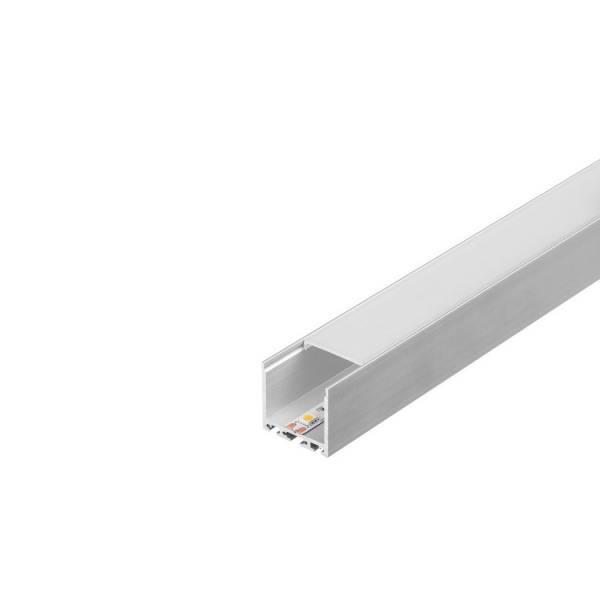 GLENOS Square Profile 3030, 1m, silver