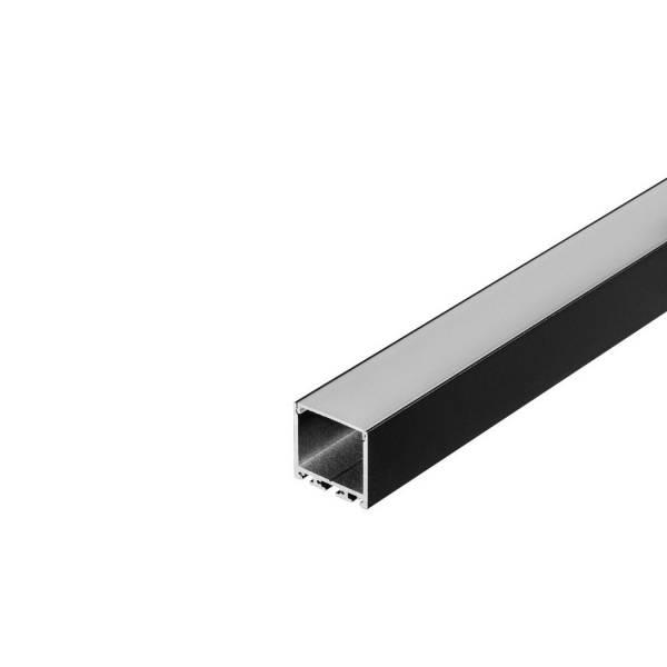 GLENOS Square Profile 3030, 3m, matt black