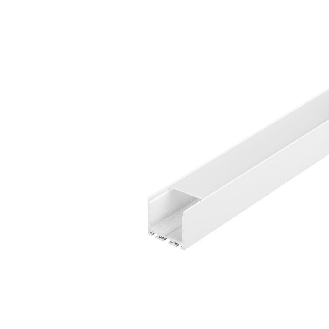 GLENOS Square Profile 3030, 3m, matt white