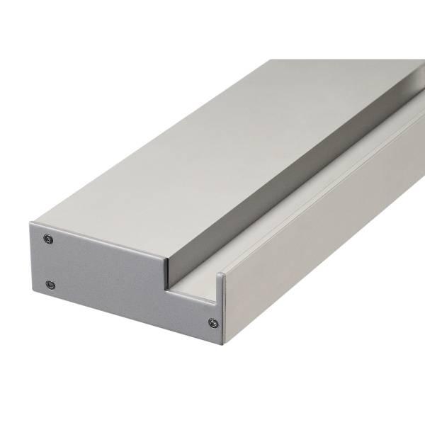 GLENOS Profi wall-mounted-profile 100, incl. Endcaps, silver