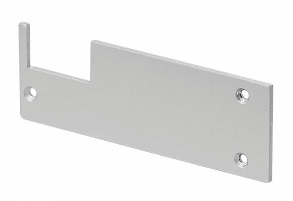 GLENOS end cap for wall bracket profile,silver-grey,2 pcs.