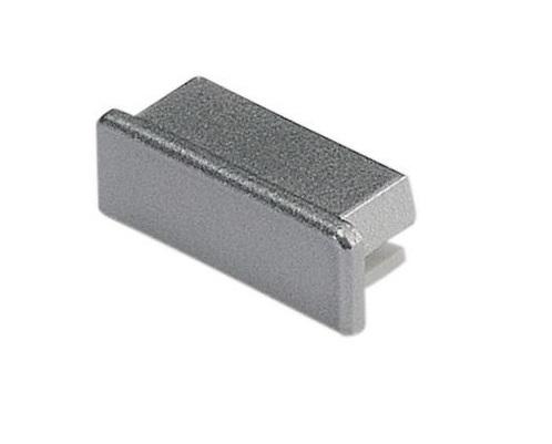 GLENOS Endcap for Profile 2609, FLAT, silvergrey