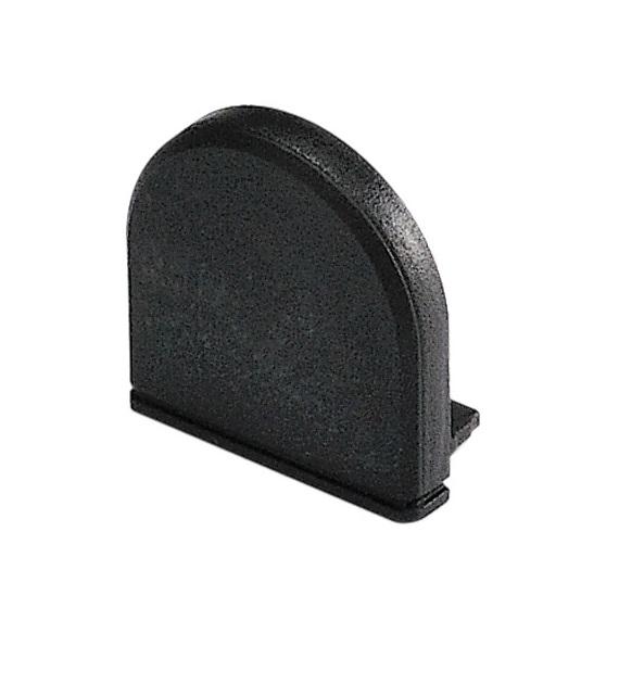 GLENOS Endcap for Profile 2609, DOME, black
