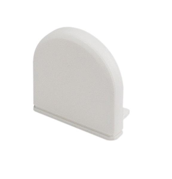 GLENOS Endcap for Profile 2609, DOME, white