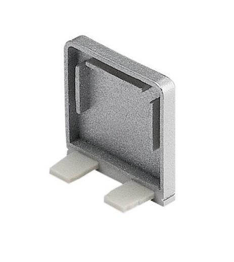 GLENOS Endcap for Profile 2609, BRICK,  silvergrey