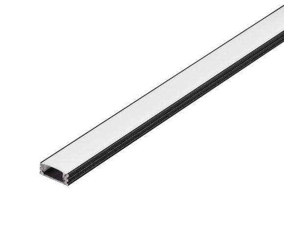 GLENOS Linear profile 1808-100, 1m, matt black