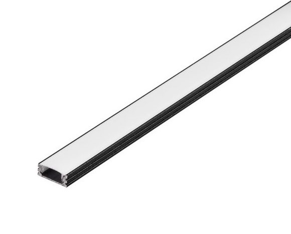 GLENOS Linear profile 1808-200, 2m, matt black