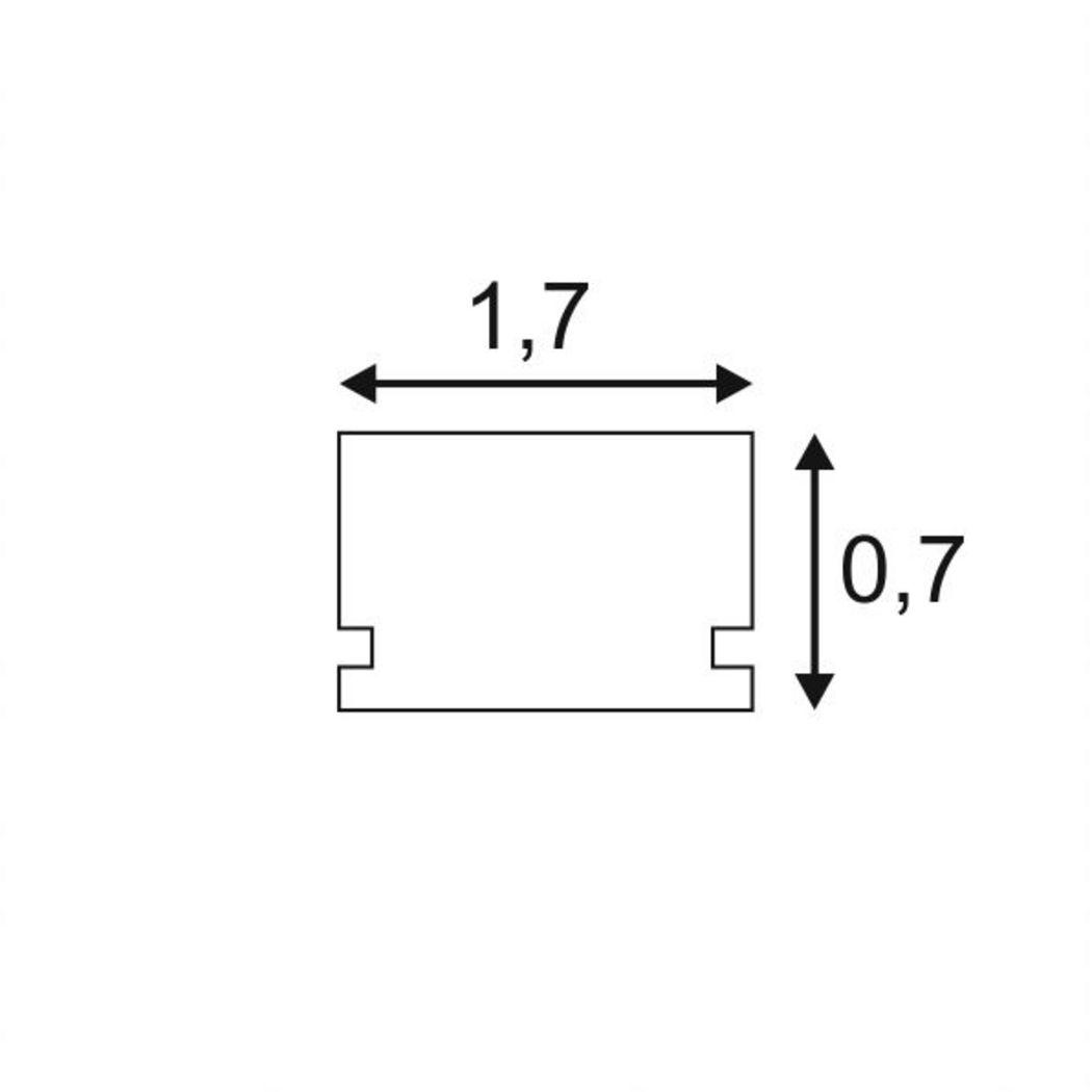 GLENOS Linear profile 1808, 2m, alu anodized