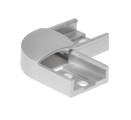 GLENOS 90° connector for Profile 1808, silvergrey