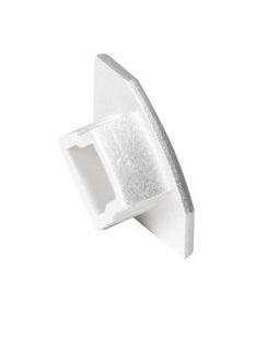 GLENOS Endcap for corner profile, silvergrey