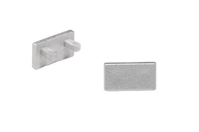 GLENOS Endcap for Linear profile 1107, silvergrey