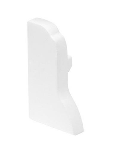 GLENOS Endcap for Aluminium Fußleisten Profile LED, white