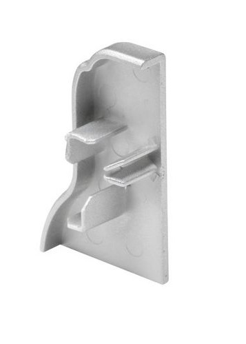 GLENOS Endcap for Aluminium Fußleisten Profile, alu anod.