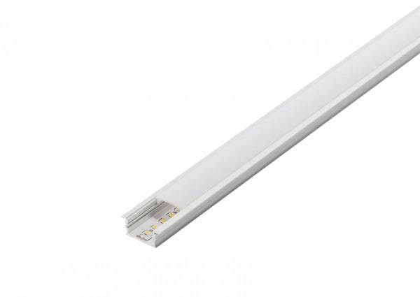 GLENOS cover 200 for linear profile 2713, 2m, white