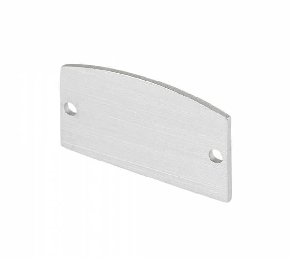 GLENOS end caps for linear profile 2713, silver, 2 pcs.