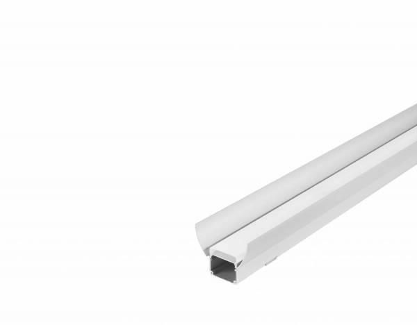 GLENOS industrial profile flat, anodised aluminium, 2m